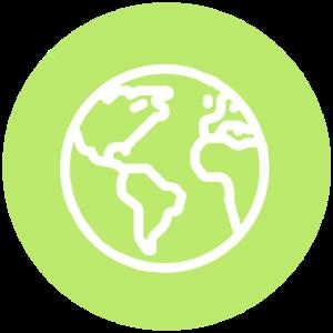 Icoon groen wereldbol