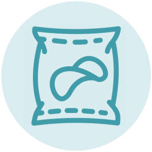 Zak chips icoon