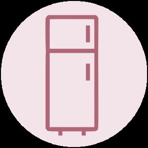 Icoon buitenkant koelkast