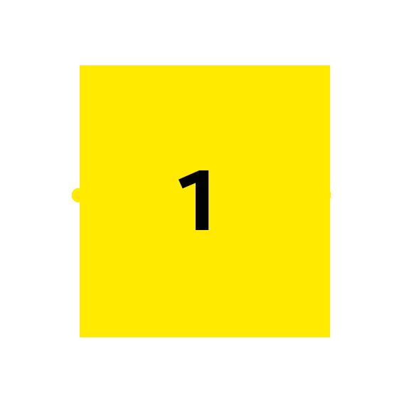 icoon licht met cijfer 1