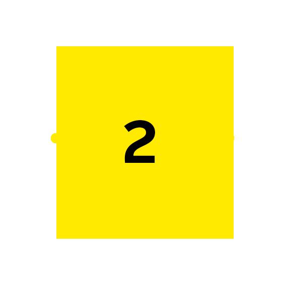icoon licht met cijfer 2