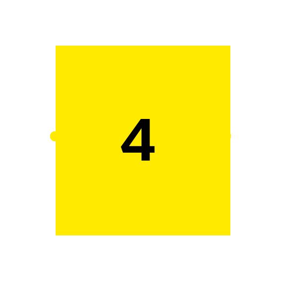 icoon licht met cijfer 4