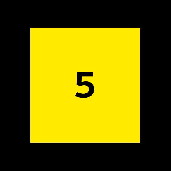 icoon licht met cijfer 5