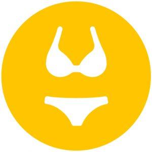 Icoon bikini voor het zonnen