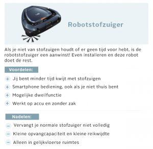 Informatie robotstofzuiger