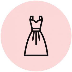 Icoon jurk met riem
