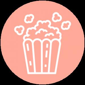 Icoon popcorn thuisbioscoop