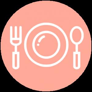 Icoon bord en bestek