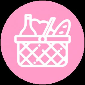 Icoon picknickmand romantische date