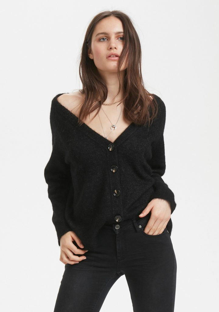 Denim hunter cardigan zwart