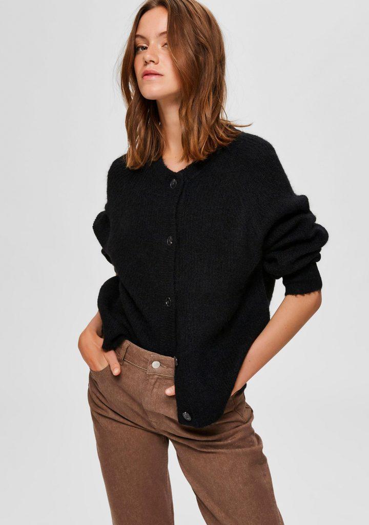Selected femme vest zwart