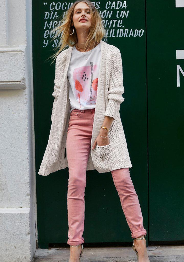 Aniston vest wit