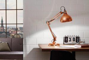 Eglo bureaulamp borgillio bruin