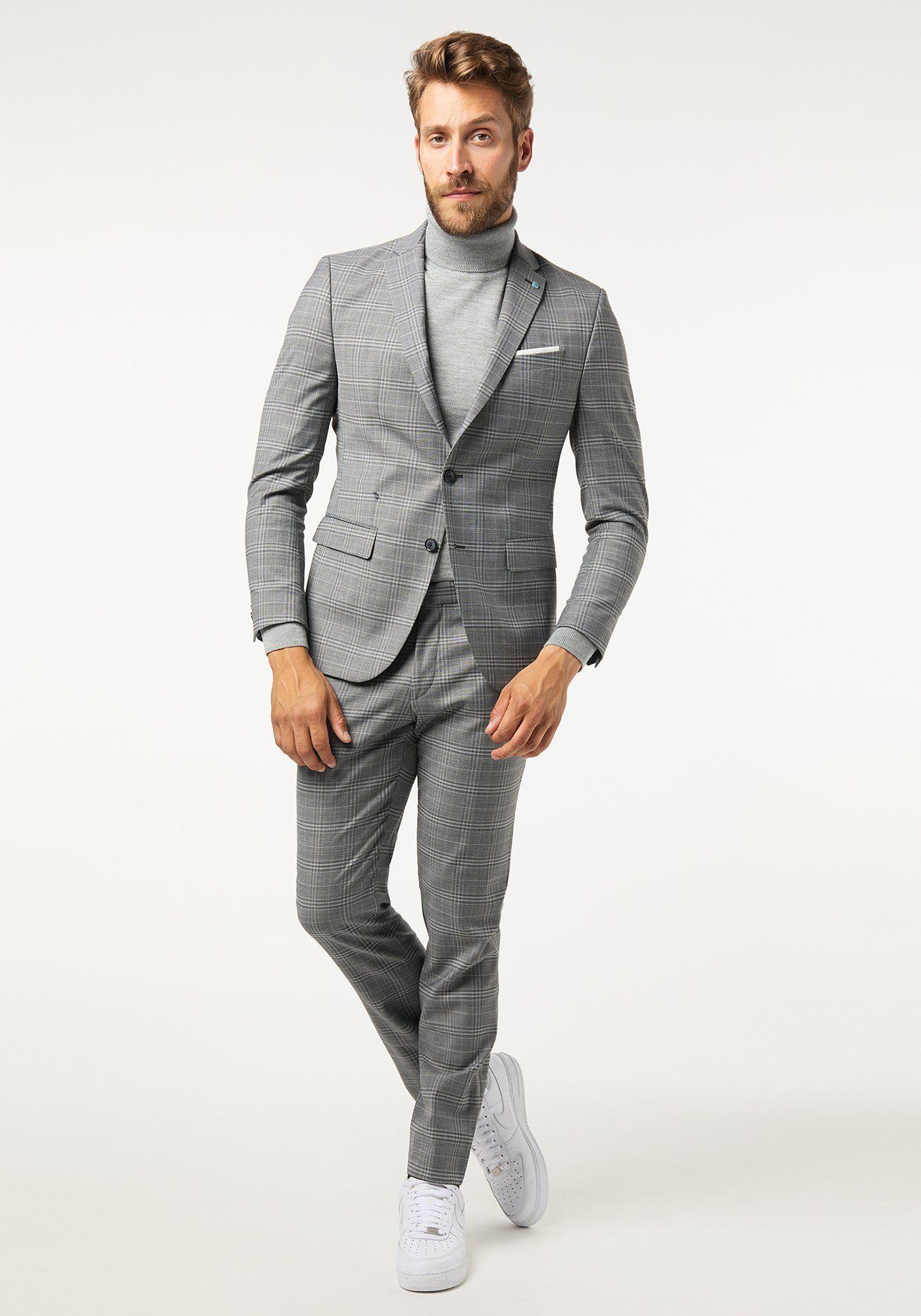 Zakelijke outfit coltrui grijs