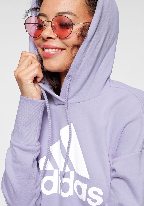 Adidas Performance hoodie pastelkleur paars