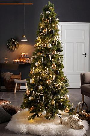 Kerstboom landelijke sfeer