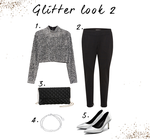 Pantalon glitter looks