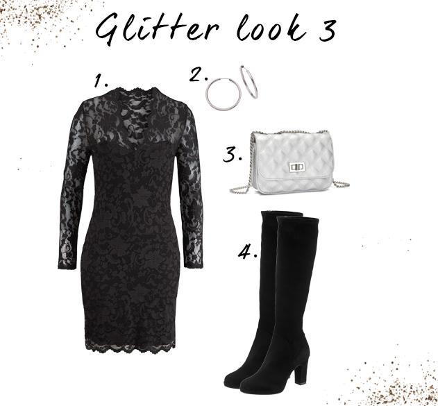 Zwart jurkje outfit