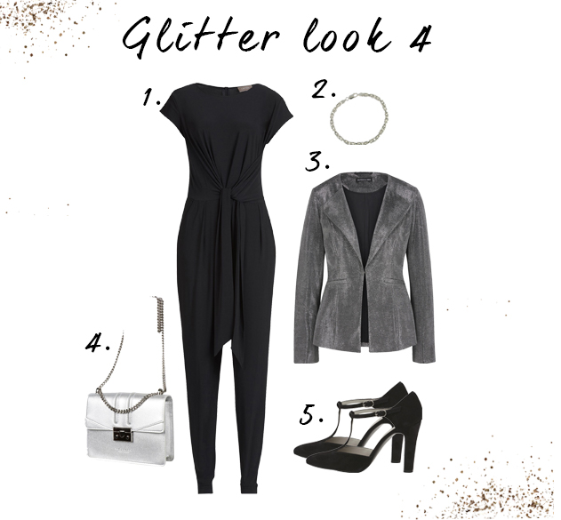 Jumpsuit glitter look