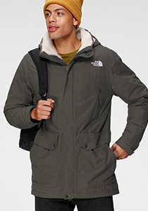 The North Face parka groen
