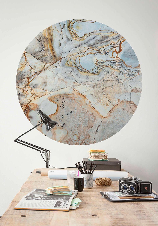 Komar vliesbehang marble multicolor