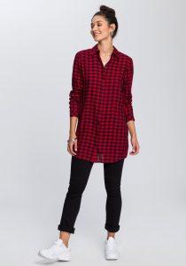 Oversized geruite blouse