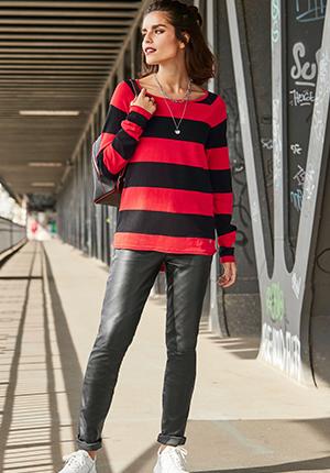 Leather broek