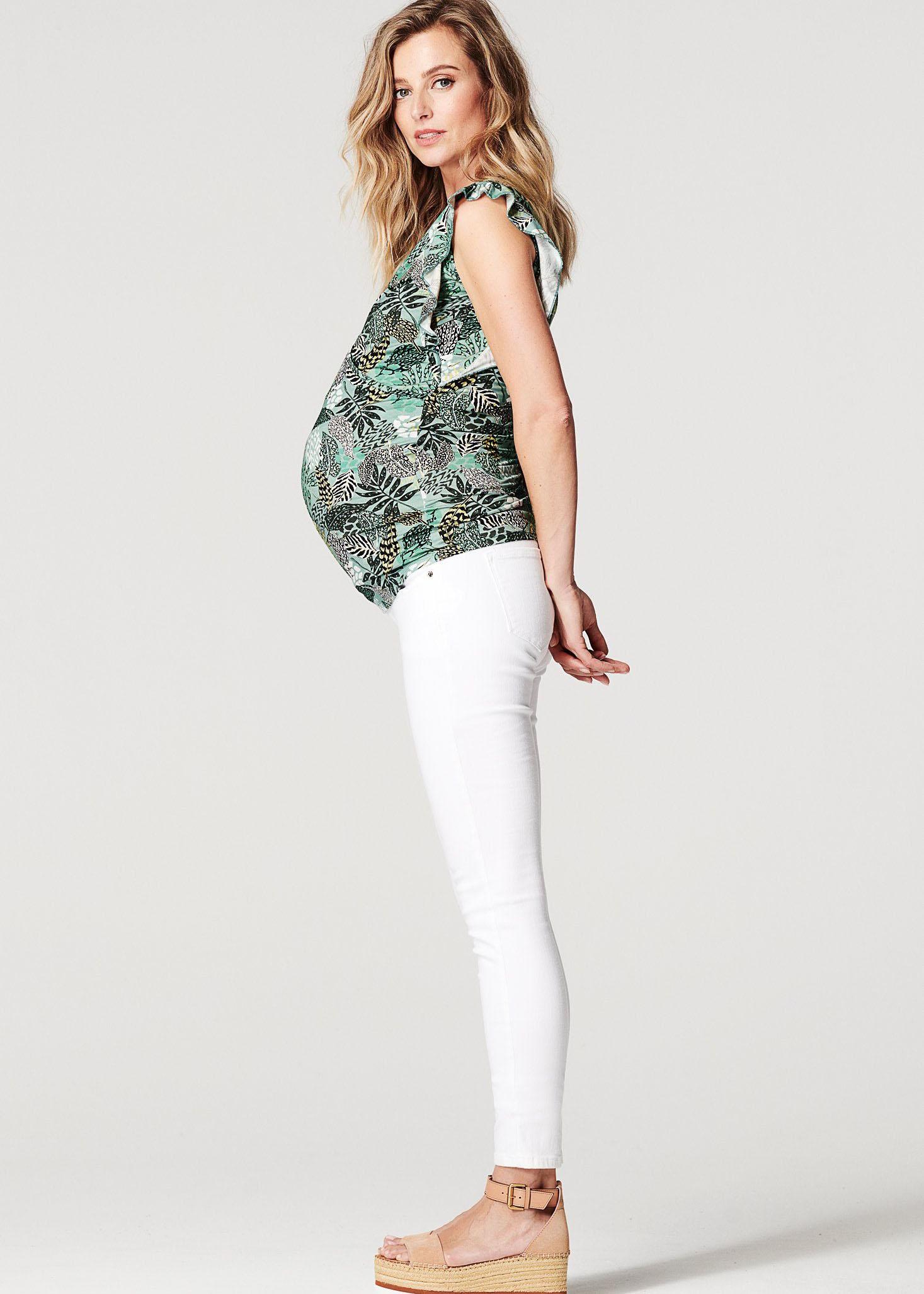 Groenstijlvolle zwangerschapskleding shirt jungle