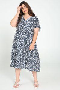 Maxi-jurk grote maten blauw