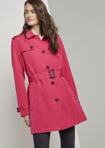 trenchcoat zomerjas rood