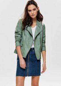 Leren zomerjas groen