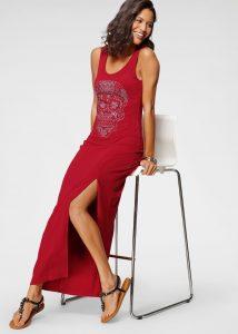 Rode lange jurk