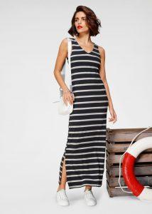 Gestreepte lange jurk