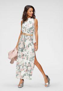 Babyshower outfit: maxi-jurk bloemenprint