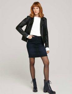 Korte zwarte rok