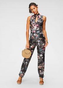 Summer chique bloemenprint jumpsuit
