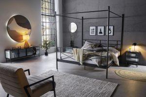 Donkere slaapkamer woontrends