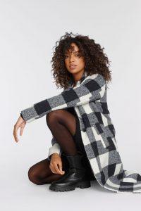 Najaarstrend geruite jas